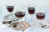 Homemade espresso liqueur