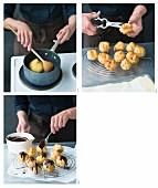 Italian bignè alla crema being made