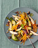 Avocado salad with Muscade de Provence pumpkin and mixed seeds