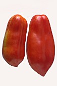 Two San Marzano tomatoes