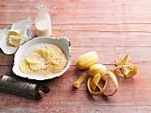 Potato gratin being prepared