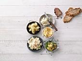 Five potato spreads