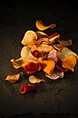 Various vegetable crisps
