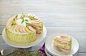 Apfel-Minze-Sahnetorte