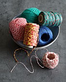 Various types of sausage twine