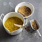 Homemade coarse mustard