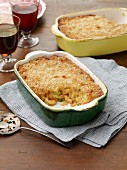 Macaroni and cheese with caramelised leeks