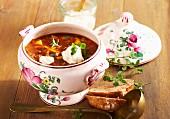 Spicy goulash soup