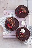 Mini dark chocolate tarts