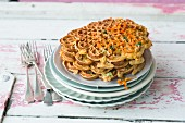 Carrot waffles with cheese