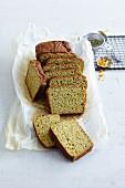 Gluten-free pumpkin bread with orange and buckwheat