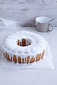 Gluten-free sponge cake with white rum and icing