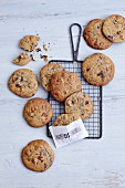 Gluten-free chocolate chip cookies with hazelnuts