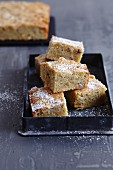 Gluten-free nutmeg blondies with Brazil nuts
