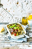 Quinoa and vegetable bake with ricotta