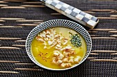 Saffron and almond soup