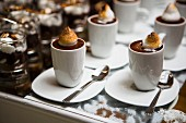 Chocolate mousse with meringue