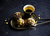 Orange truffles with candied ginger