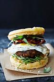 Frühstücks Waffel-Sandwich