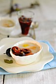 Panna cotta with plum compote