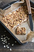 Homemade muesli slices
