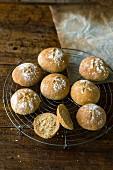 Crispy sour dough and corn semolina rolls