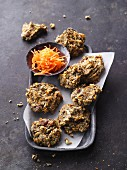 Vegan ginger cookies with carrots