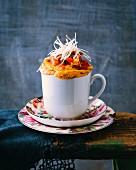 A savoury Bella Napoli-style mug cake