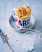 Quiche Lorraine-style mug cake