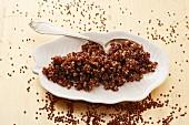 Rotes Quinoa, gekocht