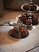chocolate and liquorice truffle pralines
