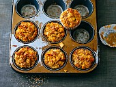 Apple and sesame seed muffins with grated coconut