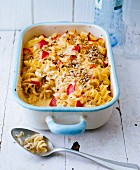 Sauerkraut and apple pasta bake