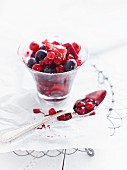 Berry compote in a glass