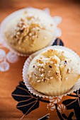 Vanilla muffins with nuts