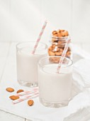 Almond milk (topic : drinking fruits)