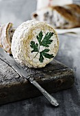 Camembert with parsley
