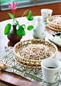 Zaru soba (cold buckwheat noodles, Japan)
