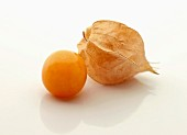 Cape gooseberries on a white surface