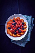 Summer berry salad (seen from above)