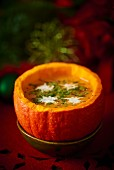 Christmas pumpkin soup