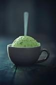 A couple of vegan green tea ice cream