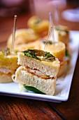 Delicious mini sandwiches