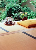 Tea service on Japanese veranda