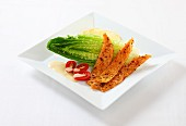 Geräucherter Lachs mit buntem Pfeffer & Salatbeilage