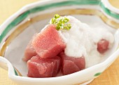 Tuna fish topped with grated yam (Japan)