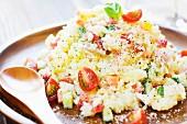 Reissalat mit Schinken und Parmesan