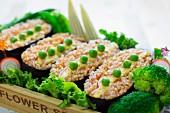 Onigirazu (rice sandwich with omelette, Japan)