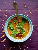 Lentil soup with coriander
