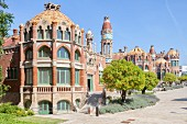 An exterior shot of the hospital Sant Pau, Catalonia, Spain